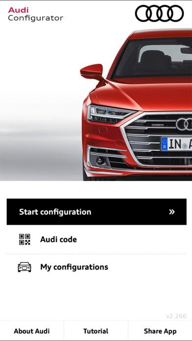Audi Configurator UK screenshot one