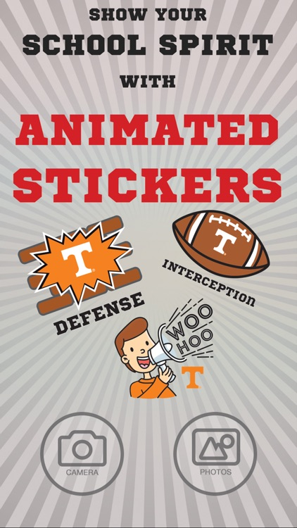 Tennessee Volunteers Animated Selfie Stickers