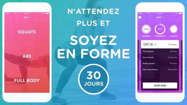 Défi Squat & Abdo En 30 Jours dans l'App Store