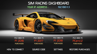 Sim Racing Dashboard screenshot 2