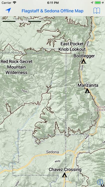 Offline Flagstaff & Sedona Map