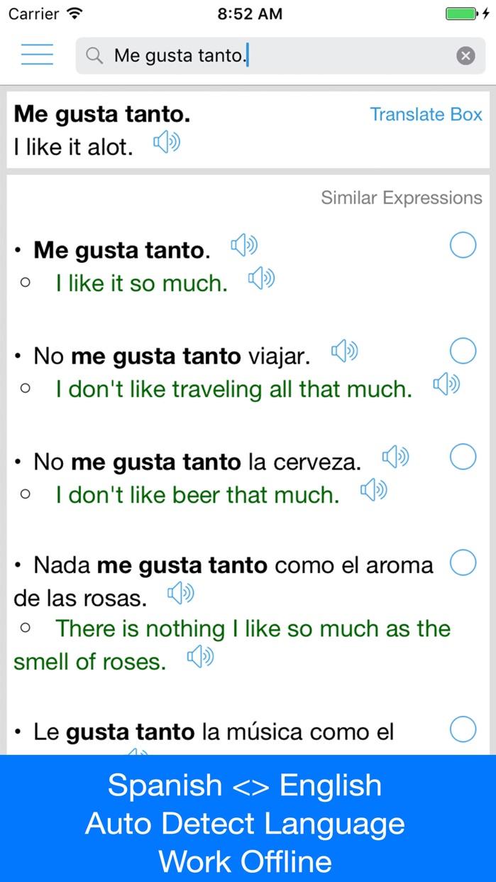 Spanish Translator Offline Screenshot