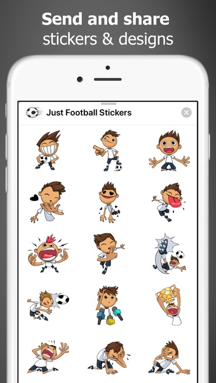 Just Football Stickers screenshot-2