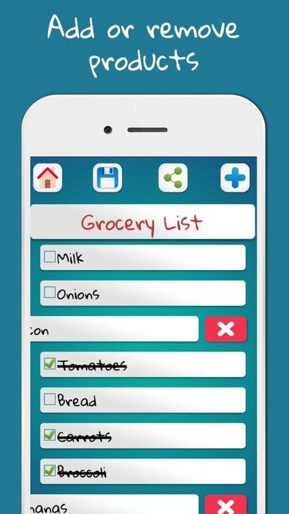 Grocery lists to not forget