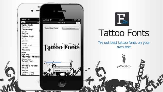 Super Tattoo Fonts - design your text tattoo su App Store HE24