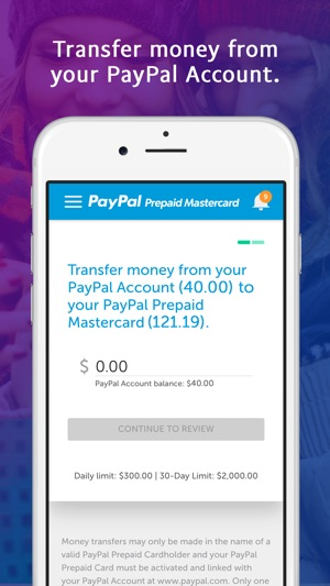 screenshots - How To Transfer Money From A Prepaid Card
