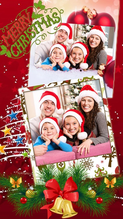 Merry Christmas Collage Frames