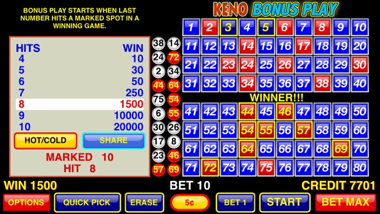 Keno Bonus Play screenshot-2