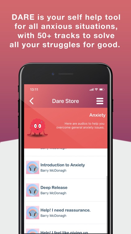 DARE – Break free from Anxiety