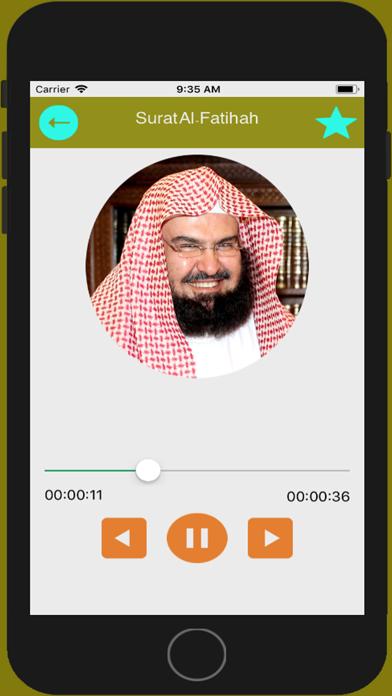 Sheikh Sudais Quran MP3 screenshot two