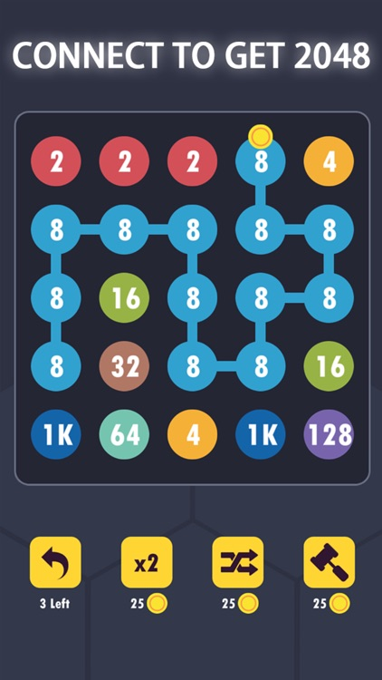 2 for 2 Dots Connect 2048
