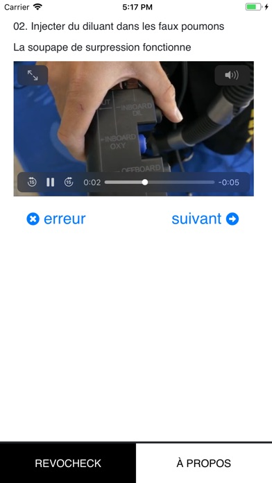 Screenshot of rEvoCheck App