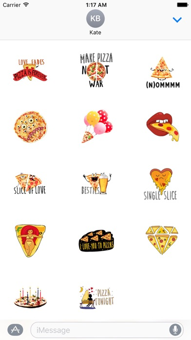 I Love Pizza Forever Sticker screenshot 2