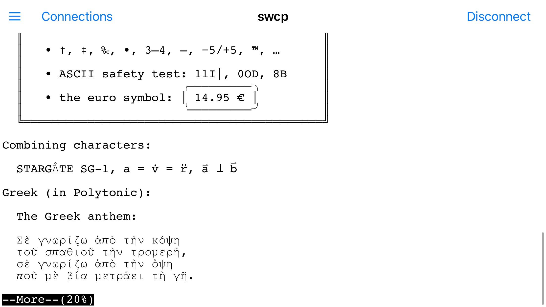 SecureCRT for iOS Screenshot