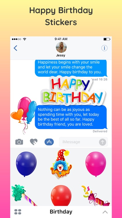 2018 Happy Birthday Stickers