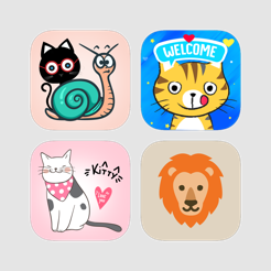 Amazing Animated Cat With Animal Face Mask Stickers On The App Store