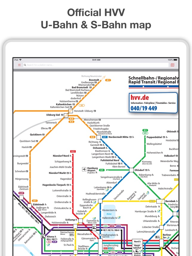 Hamburg Subway Map.Hamburg Metro Map Route On The App Store