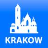 Krakow travel map guide 2018