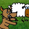 Awesome Wolf vs Small Sheep