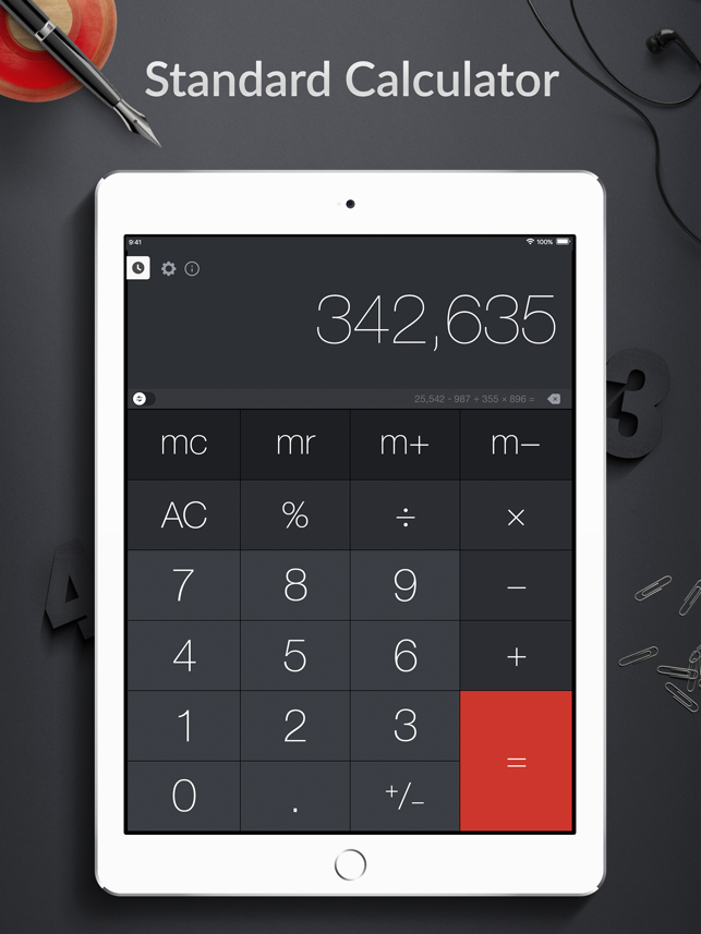 Calculator Pro For Ipad On The