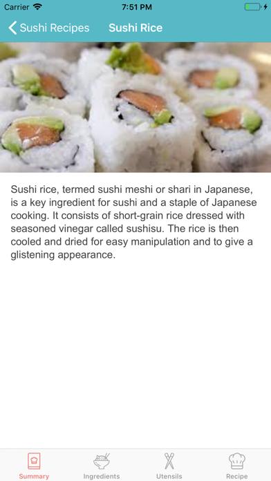 Sushi Recipes Japanese Cuisine screenshot three