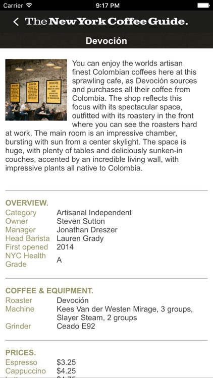 The New York Coffee Guide screenshot-3