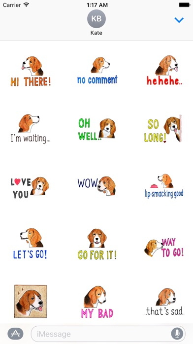 Cute Beagle Dog Says Sticker - 窓用