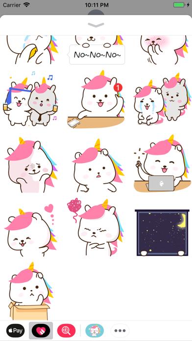 Bunnycorn Animated Stickers screenshot two
