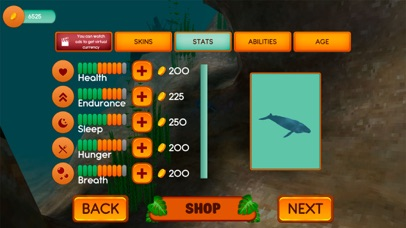 Hump Back Whale Ocean Sim Screenshot