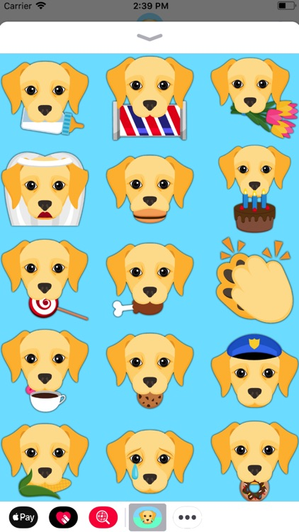 Yellow Labrador Emoji screenshot-4