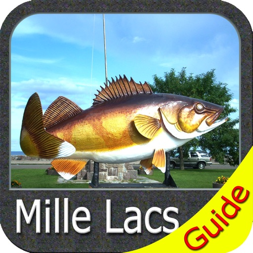 Mille Lacs Lake GPS charts fishing maps Navigator