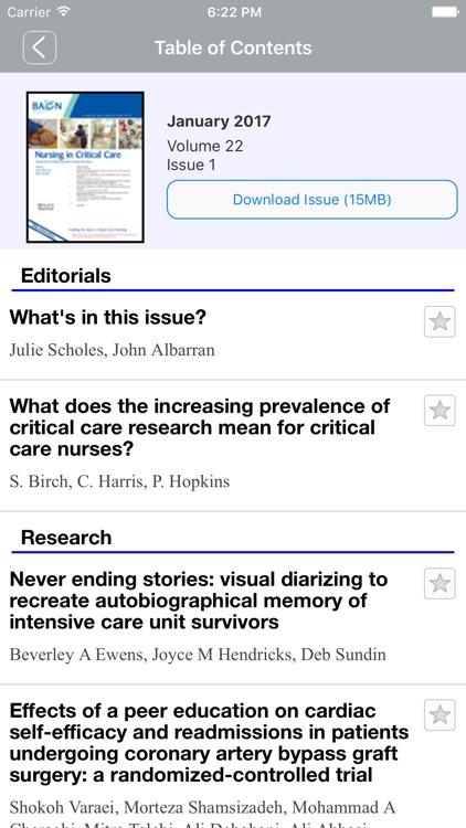 Nursing In Critical Care screenshot-4