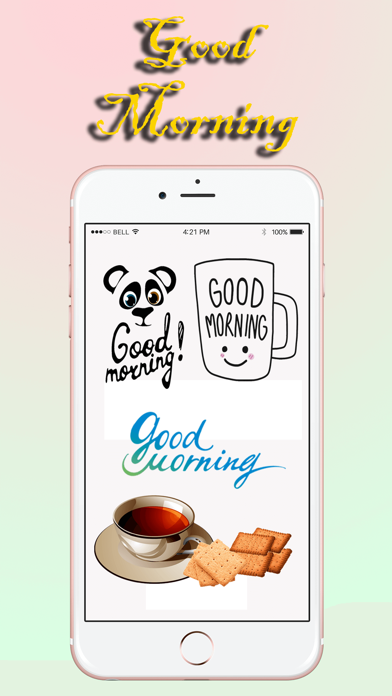 Good Morning Stickers Pack screenshot one