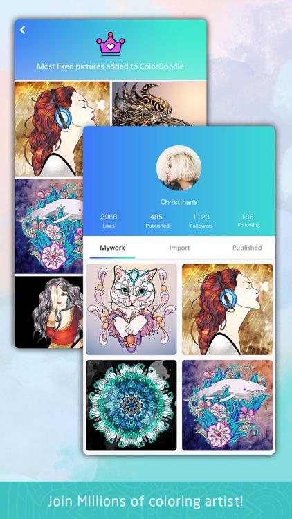 Color Doodle Art Coloring Book screenshot-4