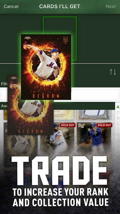 MLB BUNT Baseball Card Trader app image
