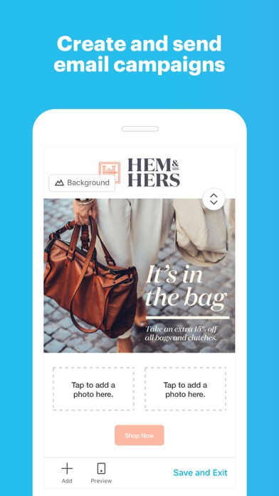 Screenshot 0 for MailChimp's iPhone app'