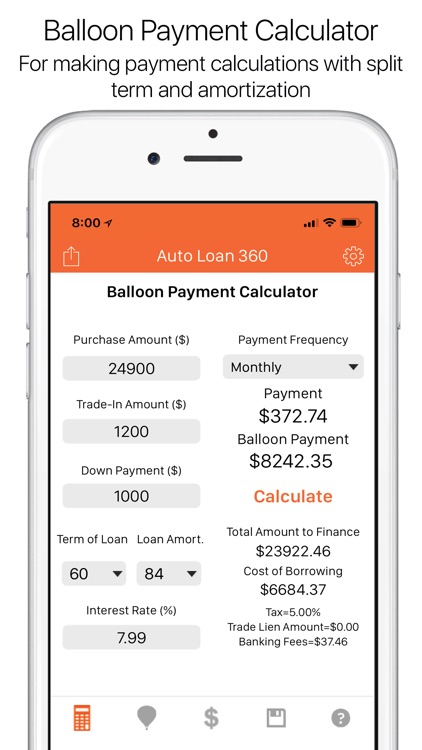 loan calculator balloon payment