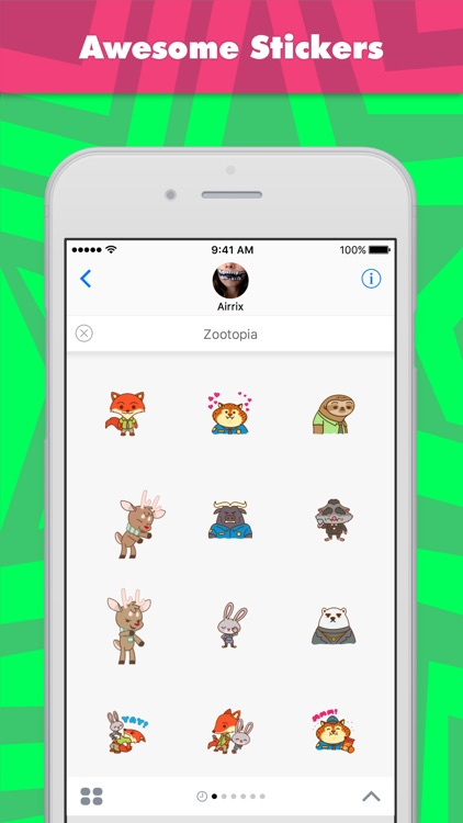 Zootopia stickers by Airrix
