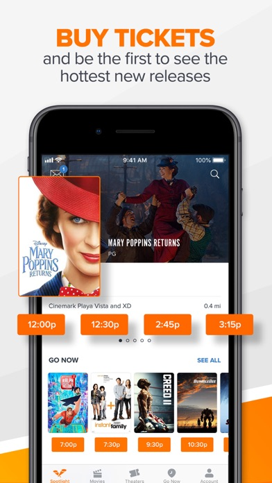 Fandango Movie Tickets Times review screenshots