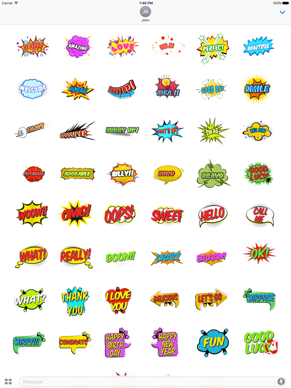Animated Comic Speech Bubbles Pack Collection screenshot 5