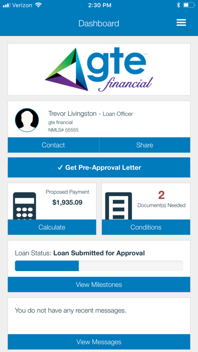 GTE Home Loans screenshot two