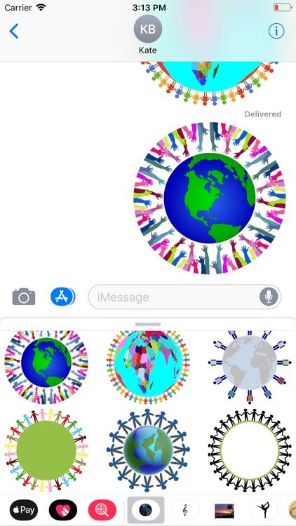Planet Earth Sticker Pack screenshot-3