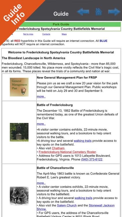 Fredericksburg National Military Park GPS Map