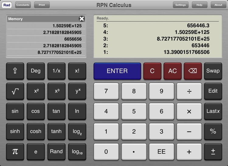 RPN Calculus
