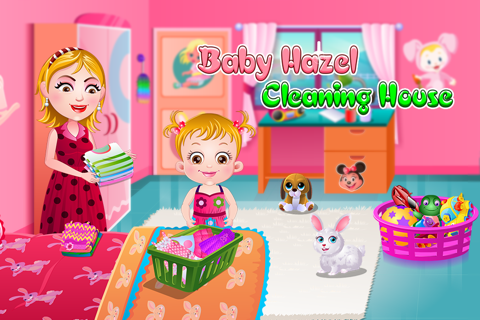 Baby Hazel Cleaning Time - náhled