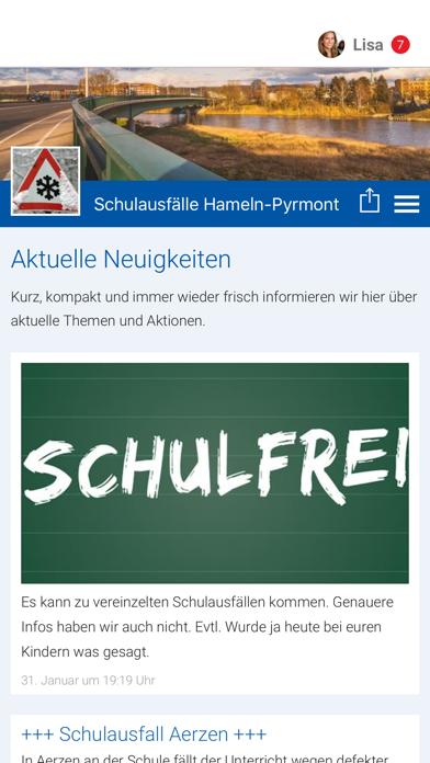 Schulausfälle Hameln-Pyrmont screenshot 1
