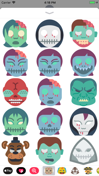 点击获取Halloween Masks Stickers
