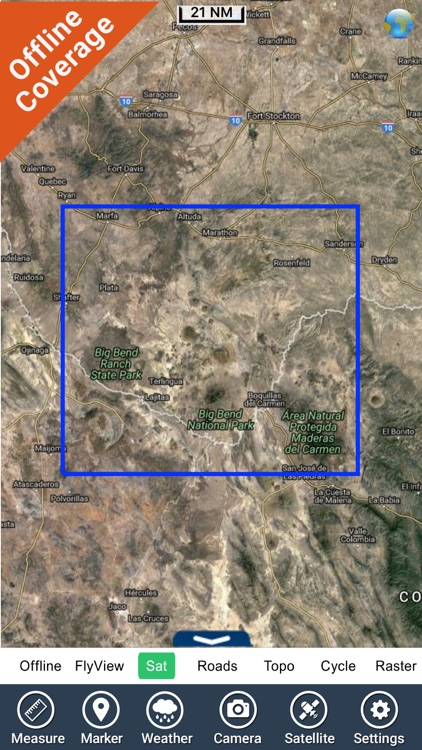Big Bend National Park GPS outdoor map with guide screenshot-4