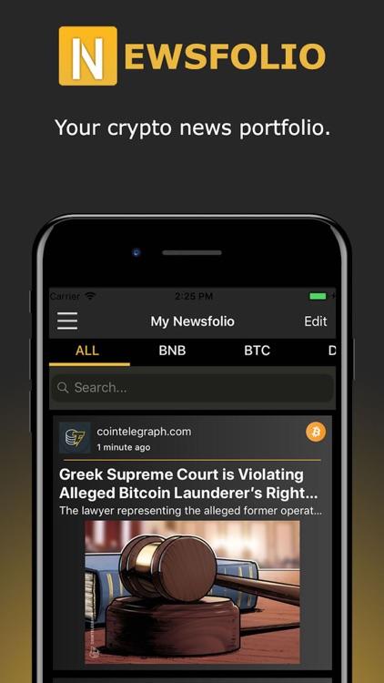 Newsfolio - Crypto News