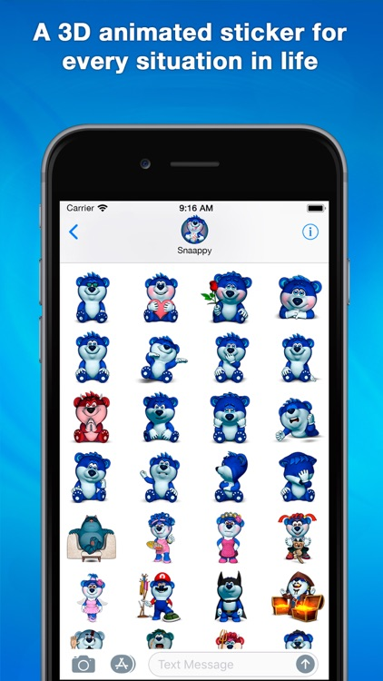 Snaappy 3D animated stickers